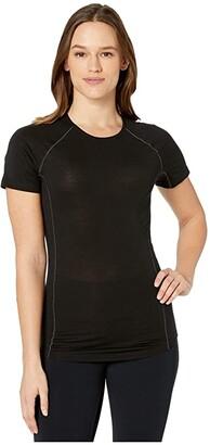 Icebreaker 150 Zone Merino Short Sleeve Crewe (Black/Mineral) Women's Clothing