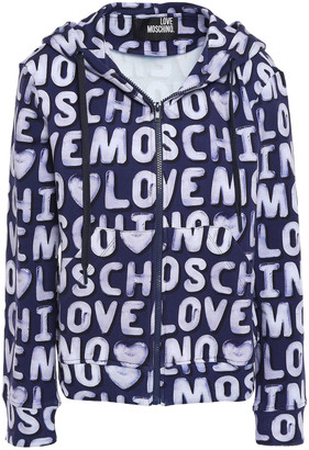 Love Moschino Cotton And Cashmere-blend Hooded Jacket