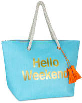 Magid Turquoise 'Hello Weekend' Straw Tote