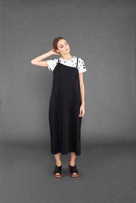Mama B - Black Cotton Malora Dress - small
