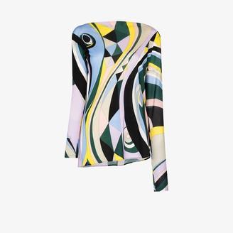 Emilio Pucci Occhi print asymmetric top
