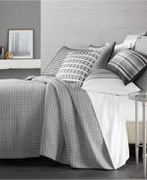 Hotel Collection Linen Plaid Quilted King Coverlet, Created for Macy's