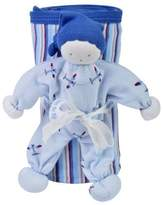 Under the Nile Organic Egyptian Cotton Stroller Blanket and Toy Gift Set - AIRPLANE