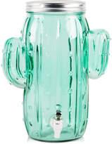 Home Essentials Glass Cactus 1-Gallon Beverage Dispenser