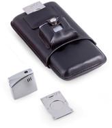 Bey-Berk Bey Berk Cigar Accessory Set with Leather Case