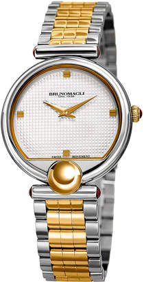 Bruno Magli 34mm Miranda 1022 Bracelet Watch, Two-Tone