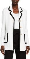 St. John Luxury Boucle Knit Long Jacket