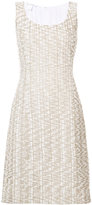 Oscar de la Renta A-line midi dress - women - Cotton/Nylon/Polyester - 10