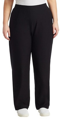 Eileen Fisher, Plus Size Straight-Leg Pants