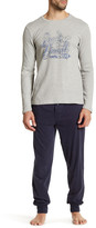 Lucky Brand Long Sleeve Thermal Crew & Jogger Pant Gift Set
