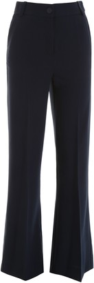 See by Chloe Embroidered Motif Flared Trousers