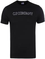 Cp Company Black Jersey Logo Print T-shirt