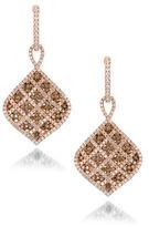 LeVian 0.99TCW Diamonds and 14K Rose Gold Chocolatier Earrings