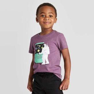 Cat & Jack Toddler Boys' Short Sleeve Astronaut Planet Picker Graphic T-Shirt - Cat & JackTM