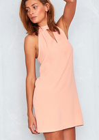 Missy Empire Fabia Pink Choker Neck Swing Dress