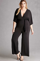 Forever 21 FOREVER 21+ Plus Size Belted Jumpsuit