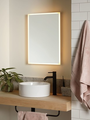 John Lewis & Partners Aura Wall Mounted Illuminated Bathroom Mirror, Medium