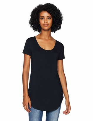 Daily Ritual Jersey Short-sleeve Scoop-neck Longline T-shirt Navy US (EU XS-S)