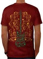 Bass Guitar Rock Music Men XXXL T-shirt Back | Wellcoda