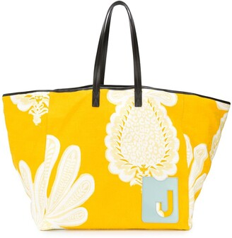 La DoubleJ Big Mama pineapple print tote bag