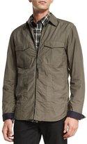 Rag & Bone Holder Zip-Up Shirt Jacket, Olive