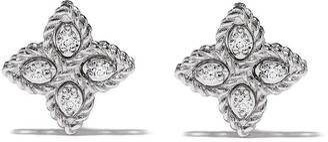 Roberto Coin 18kt white gold Princess Flower diamond earrings