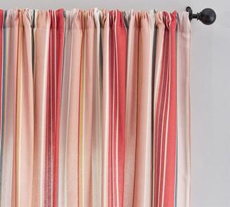 Pottery Barn Lisi Stripe Linen/Cotton Rod Pocket Curtain