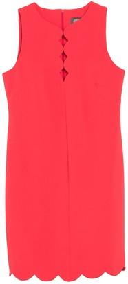 Vince Camuto Scallop Hem Shift Dress (Petite)