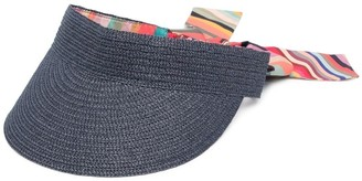 Paul Smith Artist-print straw visor