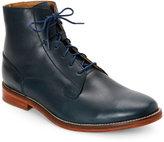 J Shoes Navy Fellow Plain Toe Short Boots