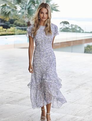 Forever New Josephine Flutter Sleeve Maxi Dress - SPRINGTIME DITSY - 8