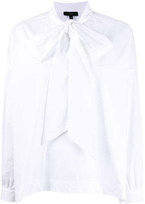 Jejia Wide Sleeve Tied Neck Shirt