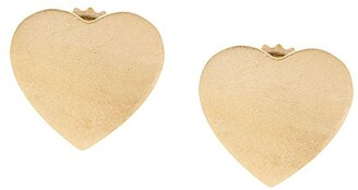 Irene Neuwirth 18kt Yellow Gold Heart Stud Earrings
