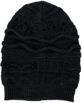 Laneus textured knit beanie