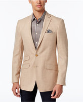 Tallia Men's Big & Tall Slim-Fit Camel Herringbone Sport Coat