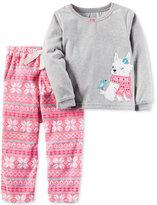 Carter's 2-Pc. Fair Isle Dog Pajama Set, Toddler Girls (2T-4T)