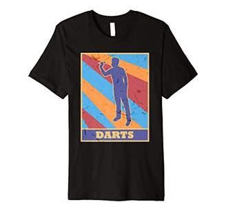 D+art's Darts Vintage Retro Colors Player Throw Target Darting Premium T-Shirt