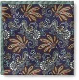 Eton Paisley Print Pocket Square