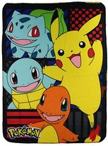 "Kids Fleece Throw Blankets 45"" x 60"" Several Options (Pokemon Pikachu and Friends)"