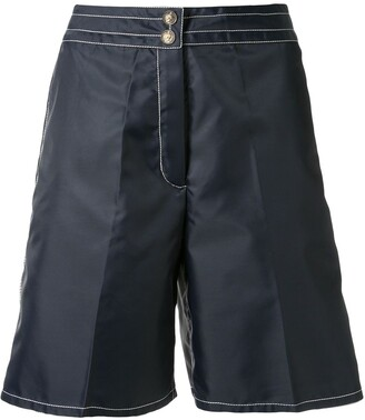 Chanel Pre Owned Stitching Details Bermuda Shorts