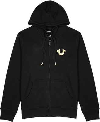 True Religion Black Hooded Cotton-blend Sweatshirt