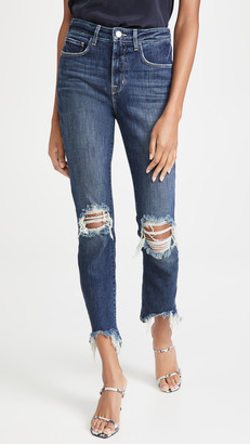L'Agence High Line High Rise Skinny Destroy Jeans