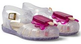 Mini Melissa Clear Glitter Lollipop Jelly Sandals