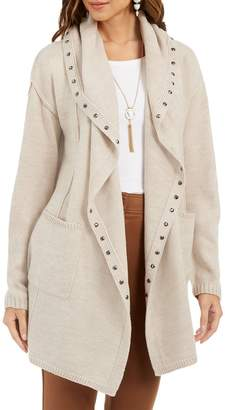 Style&Co. Style & Co. Studded Open-Front Cardigan