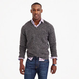 Tall Marled Lambswool V-neck Sweater