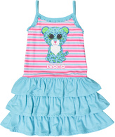 Intimo Pink & Turquoise Beanie Boo Leona Leopard Nightgown - Girls