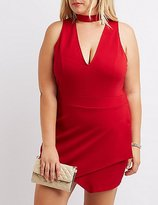 Charlotte Russe Plus Size Choker Neck Wrap Romper