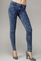 Gwenevere Super Skinny Gummy Denim In Mineral Blue