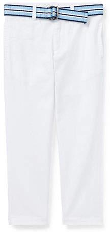Ralph Lauren CHILDRENSWEAR Little Boy's Belted Stretch Skinny Chino Pants