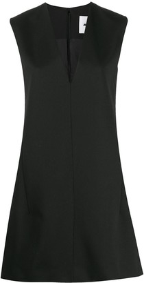 Jil Sander V-neck wool shift dress